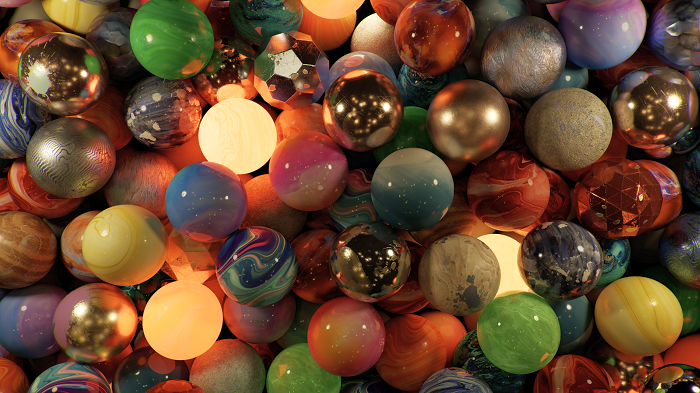 Marbles at Night